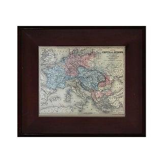 Antique Framed European Map