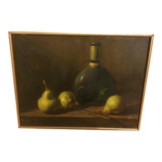 Mid-Century Classical Still Life Oil on Canvas