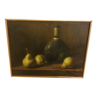 Mid-Century Classical Still Life Oil on Canvas