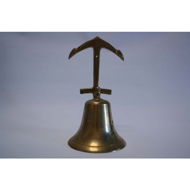 Nautical Brass Anchor Ship Bell - Image 7 of 7