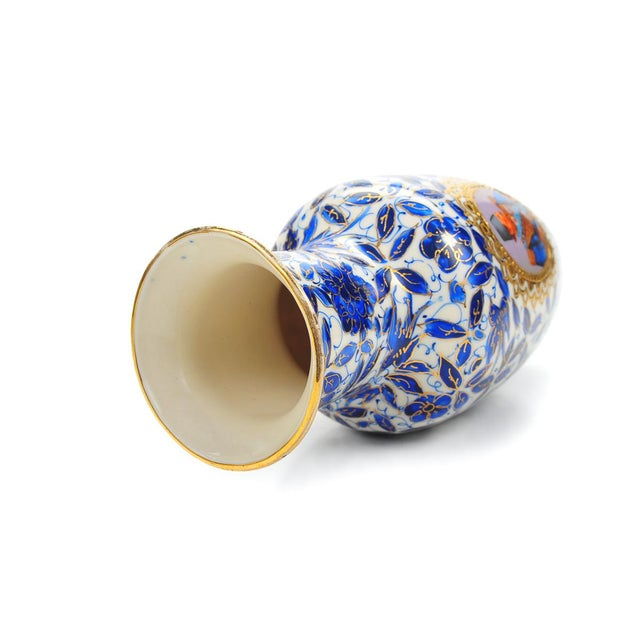 Antique Persian Blue & White Porcelain Vase - Image 8 of 9
