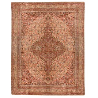 Antique Oversize 19th Century Persian Lavar Carpet