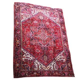 Antique Serapi Heriz Persian Area Rug - 8′4″ × 11′6″