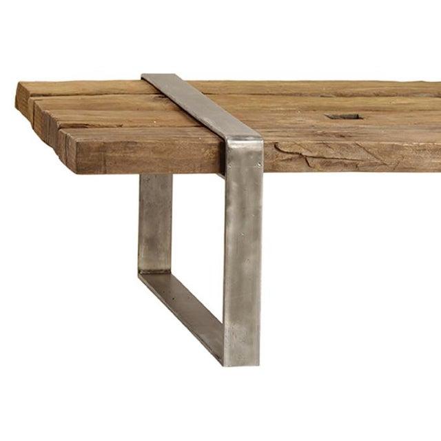 Reclaimed Wood Steel Coffee Table Chairish