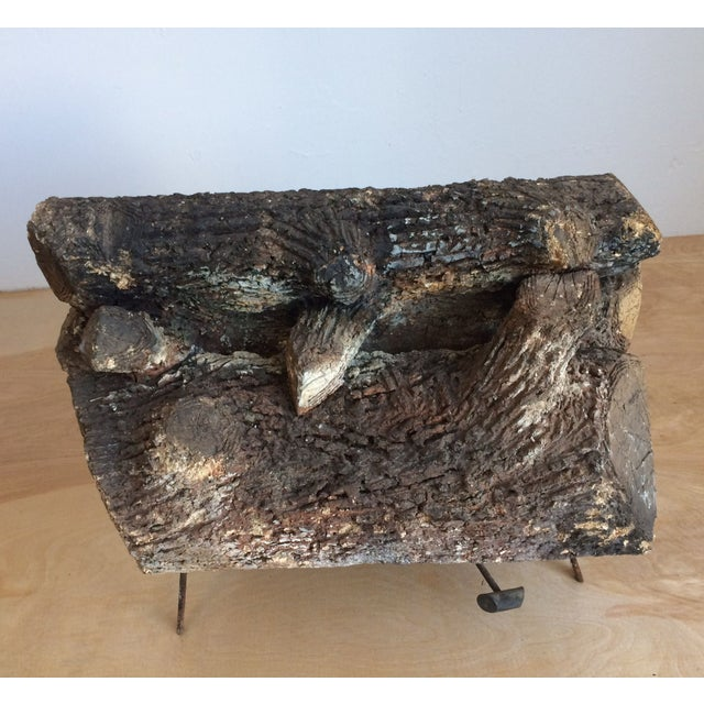 Vintage Faux Fire Log - Image 3 of 6