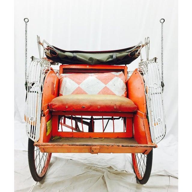 Vintage Indian Rickshaw Cart - Image 9 of 11