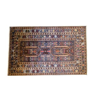 """Handmade Afghan Wool Rug - 3' 10"""" x 6' 3"""""""