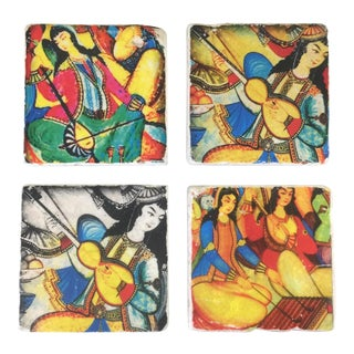 Ottoman Musician Women Coaster Set - Set of 4