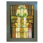 Image of Antique Architectural Stained Leaded Glass Window