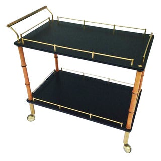 Maxwell Phillips 1960's Modern Brass Bar Cart