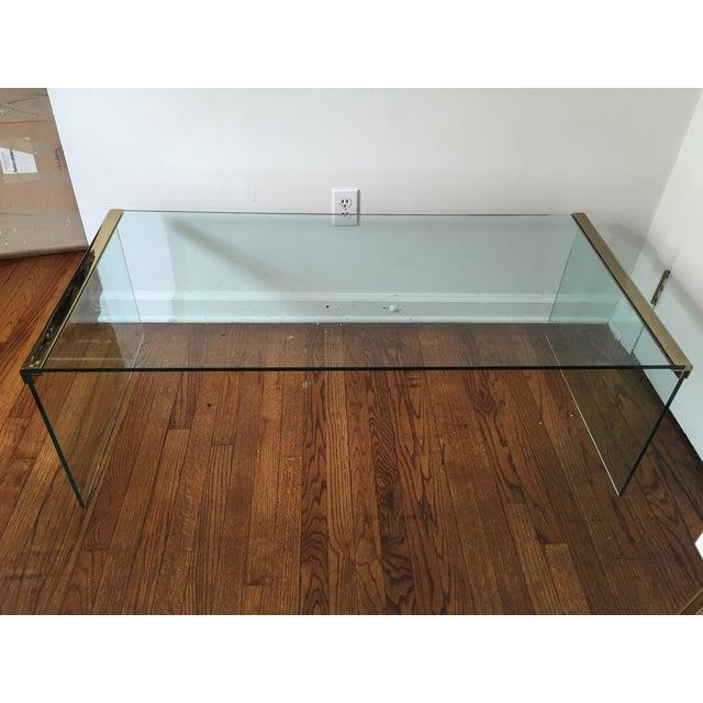 Pace Waterfall Glass Coffee Table Chairish