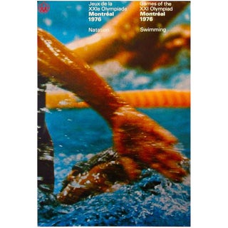 1976 Montreal Olympics Swimming Poster