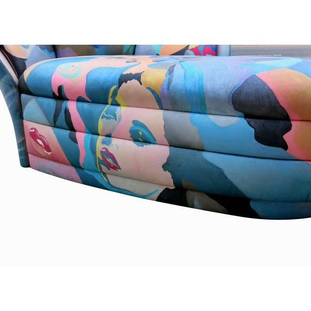 1980s Hand-Painted Chaise by Robert Fisch - Image 9 of 9