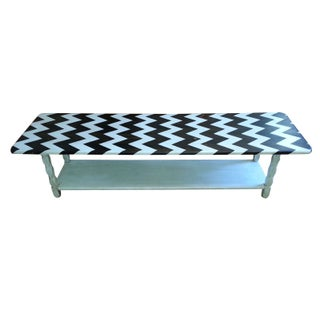 Chevron Painted Table