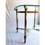 Image of Brass Beveled Glass Side Tables- A Pair