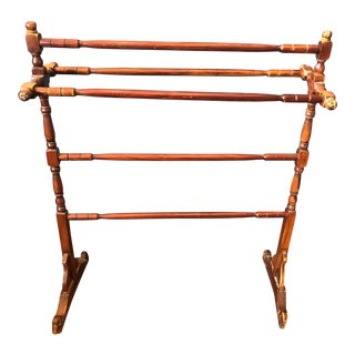 Wooden Blanket Rack