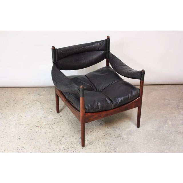 Set of Four Kristian Solmer Vedel 'Modus' Rosewood Lounge Chairs - Image 8 of 10