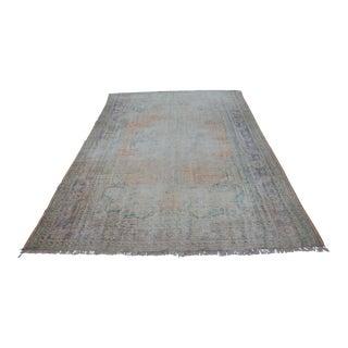 "Wool Floor Antique Oushak Rug - 81"" x 121"""