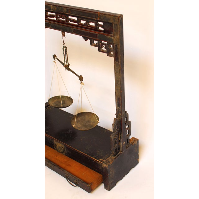 Image of Chinese Carved Balance Scale