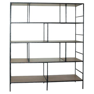 Paul Marra Iron Faux Bois Bookcase