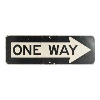 """Vintage Metal One Way 36"""" Traffic Road Sign"""