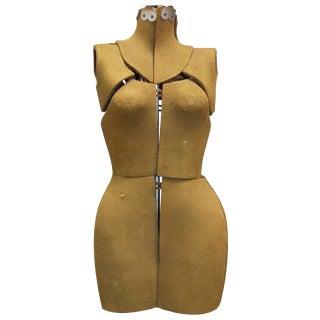 1930's Adjustable Dress Form Mannequin