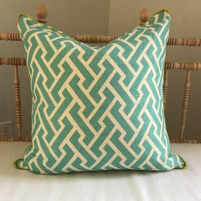 Quadrille China Seas Aga Aqua Pillow - Image 2 of 6