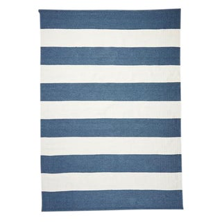 Serena & Lily Dhurrie Lido Stripe Rug - 9′ × 12′