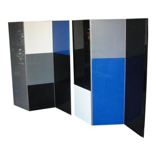 Six-Panel Mondrian Style Room Divider