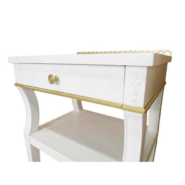 Neoclassical-Style Nightstands, Pair - Image 5 of 6