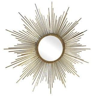 Hollywood Regency Glam Gold Sun Burst Mirror