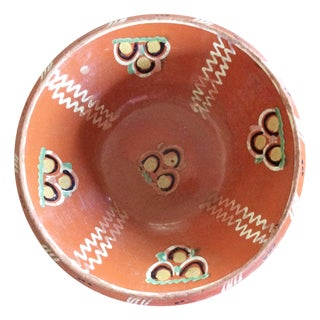 Rust Antique Hand-Painted Bowl