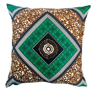 Afro Mod African Wax Print Pillow Covers - Pair