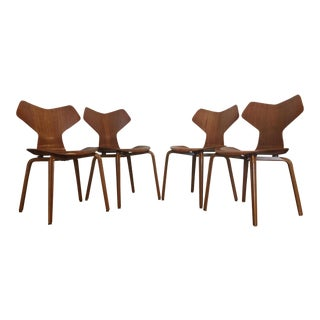 Vintage Arne Jacobsen for Grand Prix Dining Chairs - Set of 4