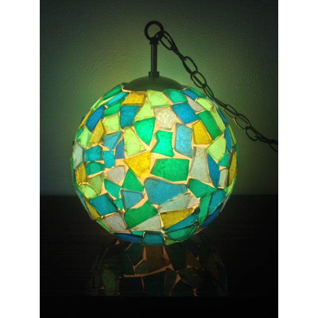 1960s Mid-Century Mod Mosiac Pendant Light - Image 5 of 8