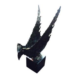 """Phoenix"", Fantoni Metal Torch-Cut Sculpture"