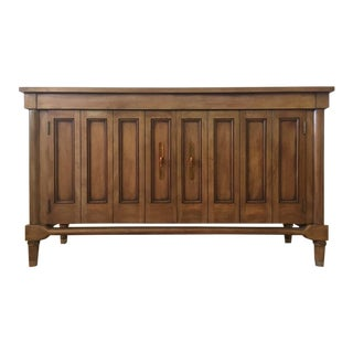 Mid-Century Modern Style Carved Wood 2-Door Sideboard