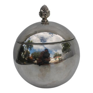 Spherical Silver Plated Copper Ice Bucket