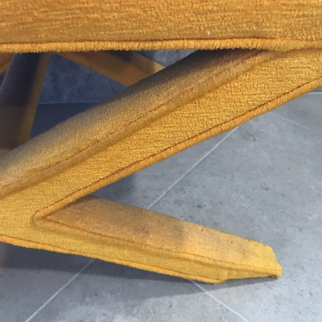 Vintage Yellow X Bench - Image 3 of 7