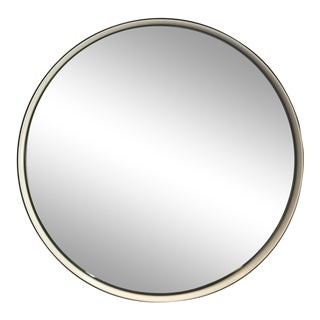 Black Rim Round Wall Mirror