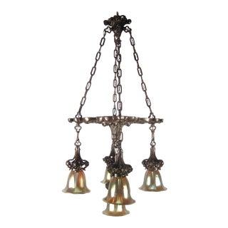 """BEARDSLEE"" Gothic Shower Light Fixture (5-Light)"