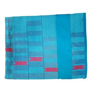 Mali Turquoise Stitched Fabric