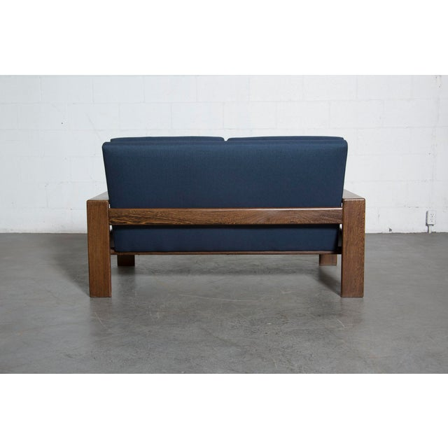 Wenge 70's Mod Love Seat - Image 5 of 8