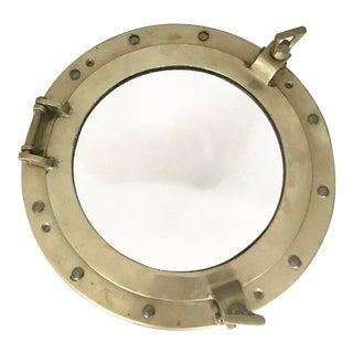 Brass Nautical Porthole Mirror