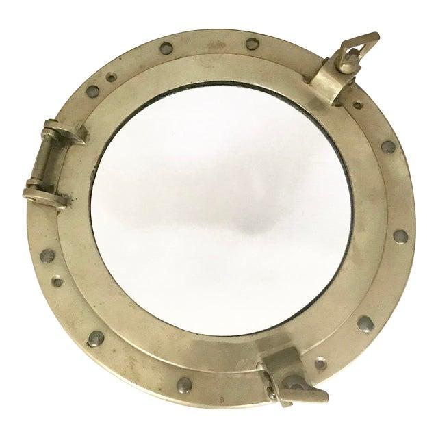 Brass Nautical Porthole Mirror - Image 1 of 4
