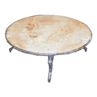 Mid-Century Stone Cocktail Table