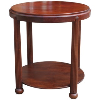 Antique Round Art Deco Side Table