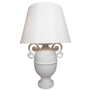 Giocometti Style Urn-Shaped Lamp with White Matte Finish