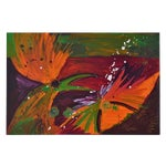 Image of Modern Abstract Acrylic Painting on Canvas - Bird