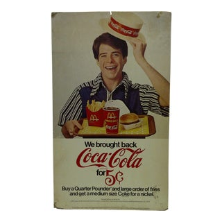 Vintage McDonalds & Coca-Cola Advertising Sign